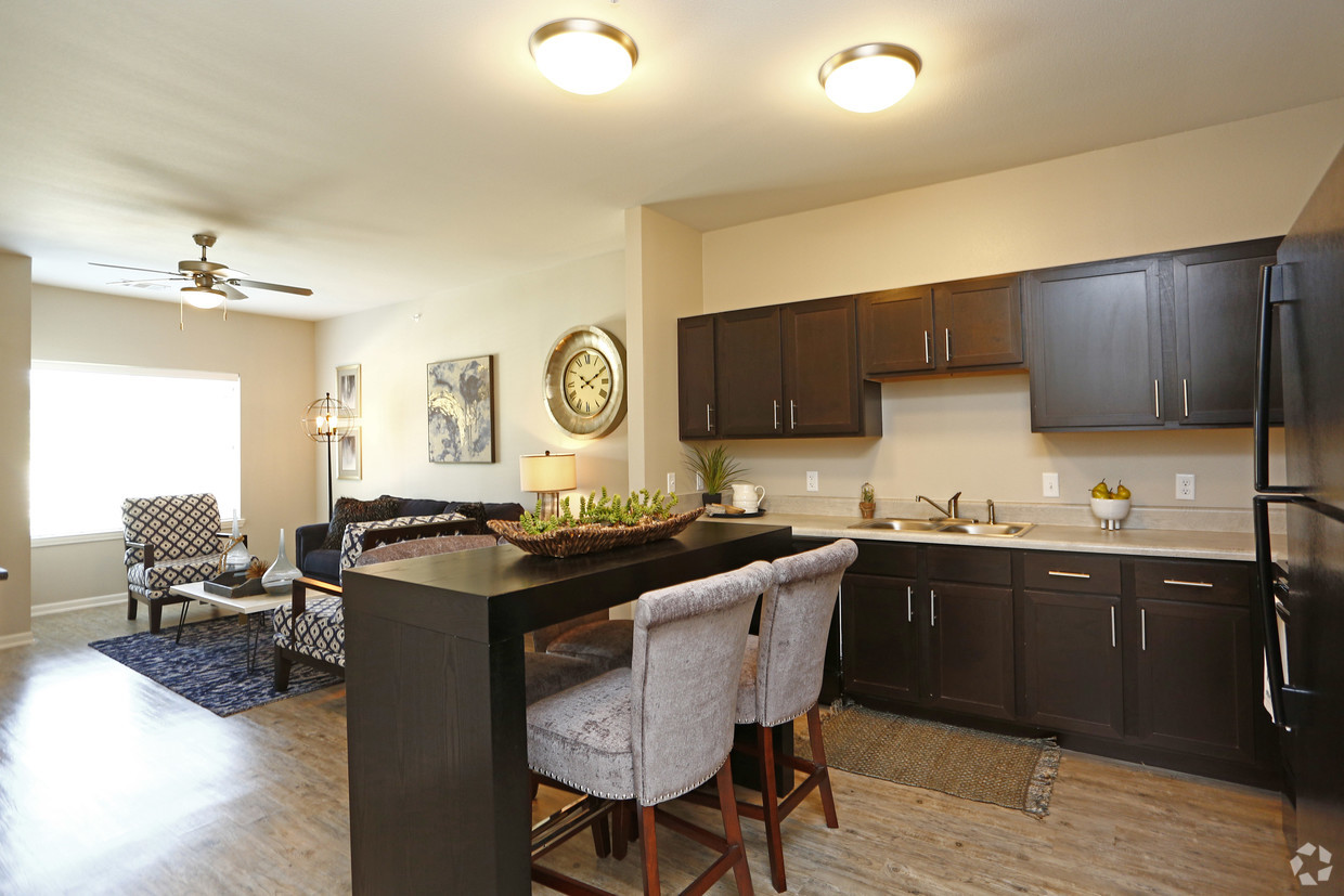 Kitchen area at The Villages at Fiskville